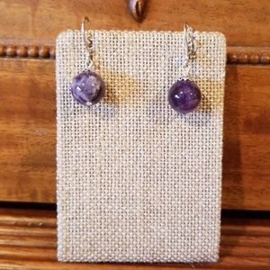 Genuine Cape Amythest earrings